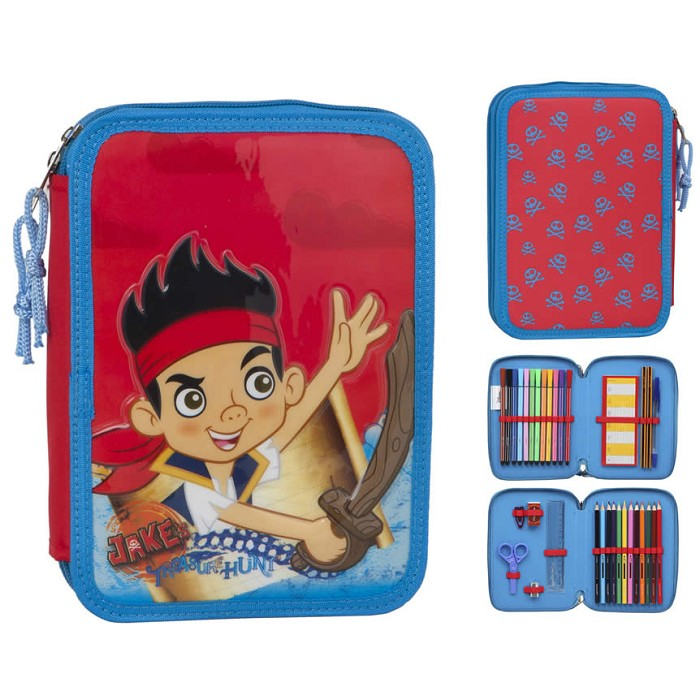 Estuche Escolar Doble  Jake y los Piratas 27894