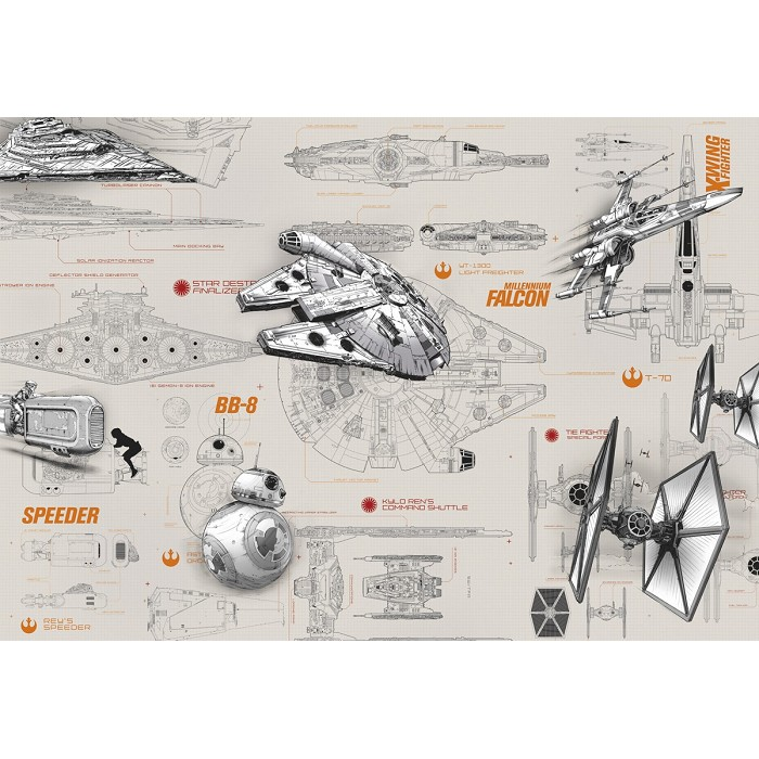 Mural Blueprints Star Wars