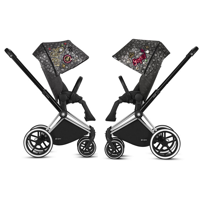 Dúo Silla de Paseo Priam Rebellious Black Cybex