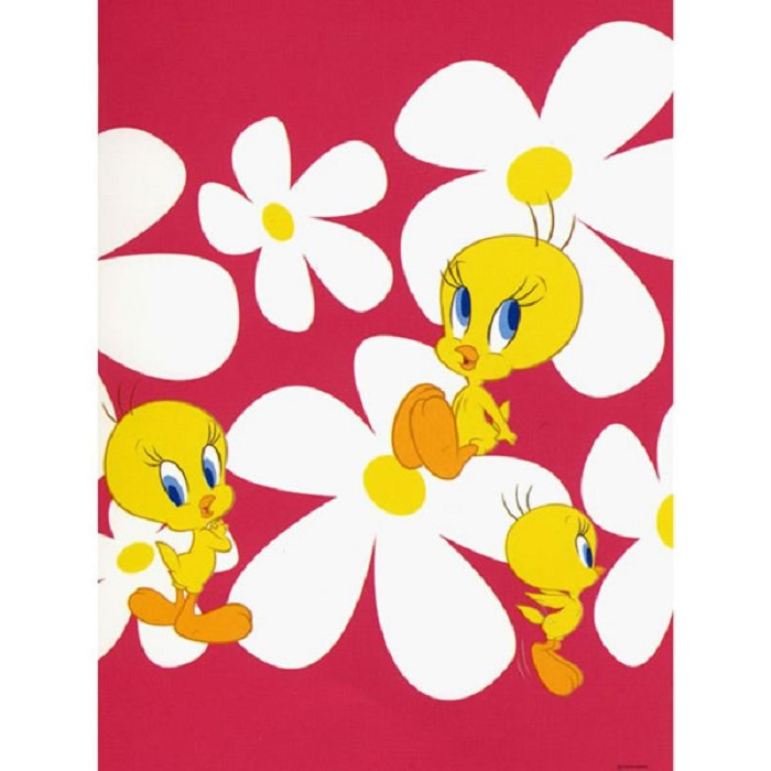 Papel Pintado Tweety Flowers 5 Looney