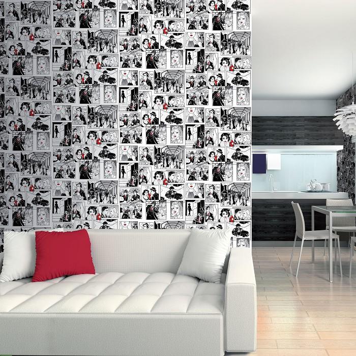 Papel pintado comic 40s versatile donurmy - Papel decorativo para muebles ...