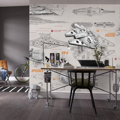 Mural Blueprints Star Wars en Donurmy