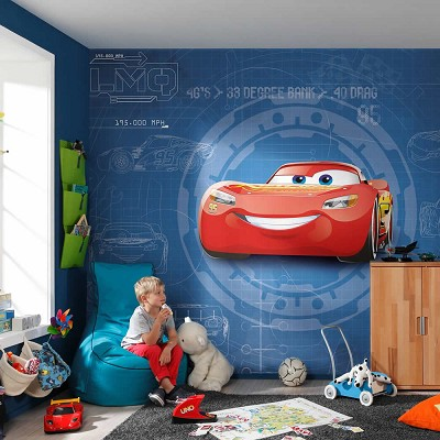Mural Cars 3 blueprint Disney en Donurmy