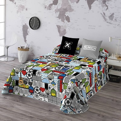 Colcha Bouti Icons Colours Reversible Munich en Donurmy