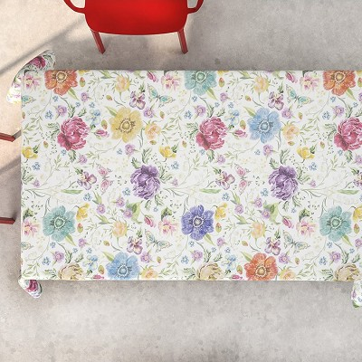 Mantel Antimanchas Digital Flores Multi en Donurmy