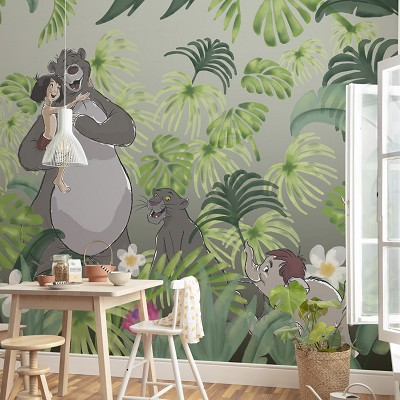 Mural Welcome To the Jungle Disney en Donurmy