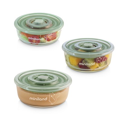 Set Tuppers Naturround Chip 3 piezas Miniland en Donurmy