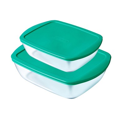 Set Tuppers Rectagulares Cook&Store 2 piezas Pyrex en Donurmy